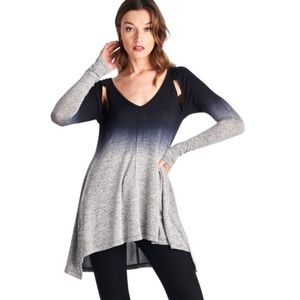 Long sleeve flare knit top